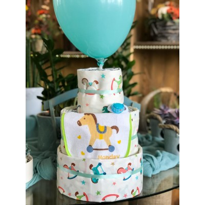 Diaper Cake Wooden Horse Toy